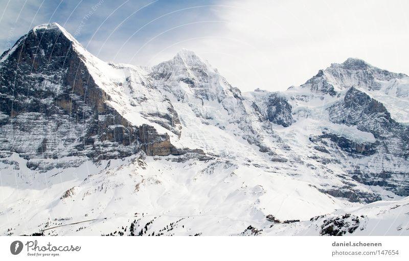 Sky White Sun Winter Mountain Snow Background picture Bright Weather Ice Hiking Large Peak Alps Climbing Switzerland