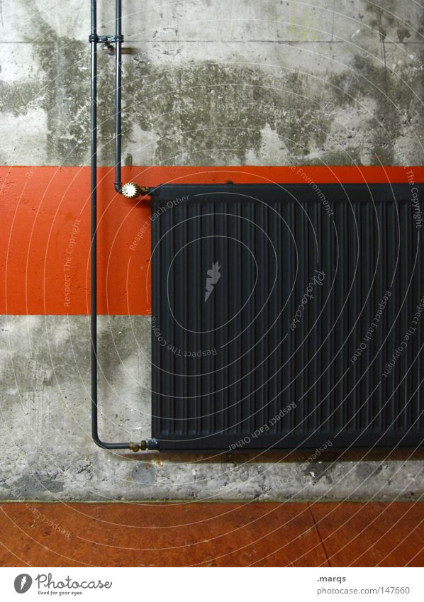 warm up Gray Physics Heat Hot Heater Derelict Living or residing Winter Old Warmth Line Orange radiator heating system Pipe