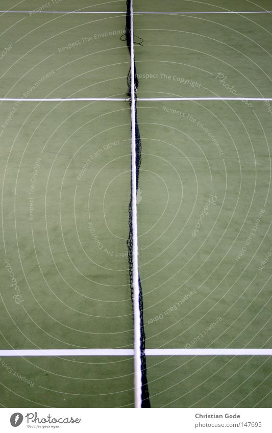 game ball Tennis Carpet Winter Winter break Reserved Tennis ball Green Line White Speed Playing Tennis rack 2 Service Jump Sports Diagonal Gymnasium Shadow