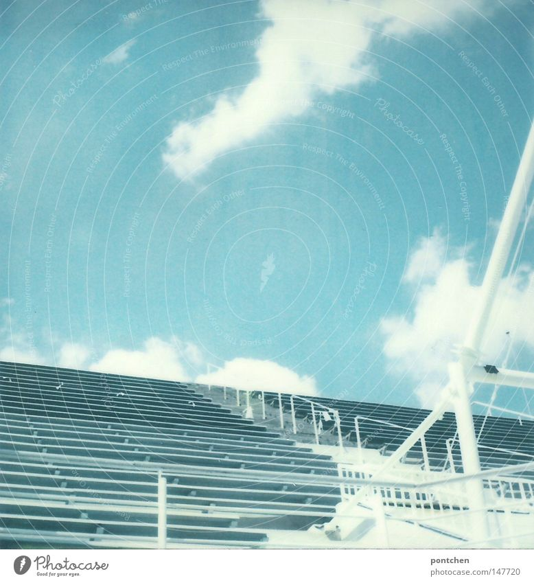 Sky Blue White Beautiful Vacation & Travel Sun Summer Clouds Sports Freedom Bright Stairs Tall Trip Design