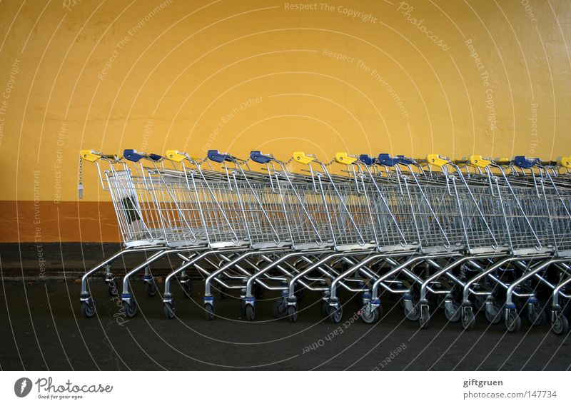 Markets Many Supermarket Consumption Shopping Trolley Containers and vessels Sequence Shopaholic
