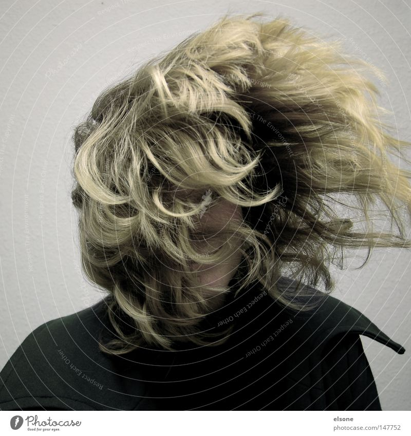 ::HAIRLICH:: Hair and hairstyles Wind Gale Portrait photograph Woman Youth (Young adults) Head Joie de vivre (Vitality) Aviation Joy permanent wave