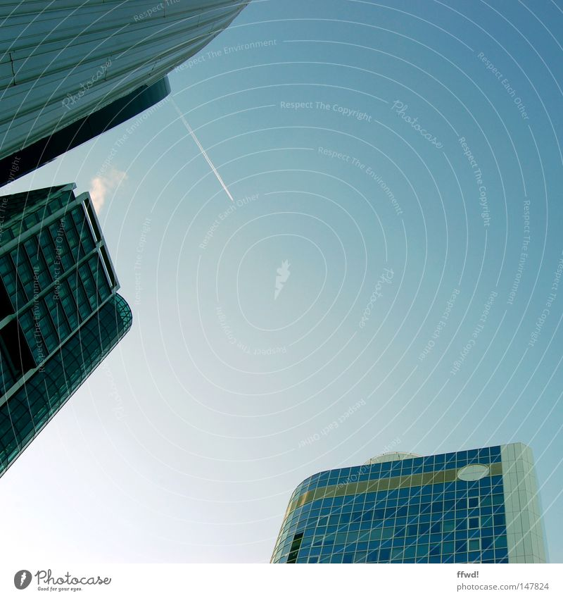 City Architecture Business Facade High-rise Success Modern Future Financial institution Manmade structures Bank building Skyline Upward Geometry Frankfurt Financial Industry