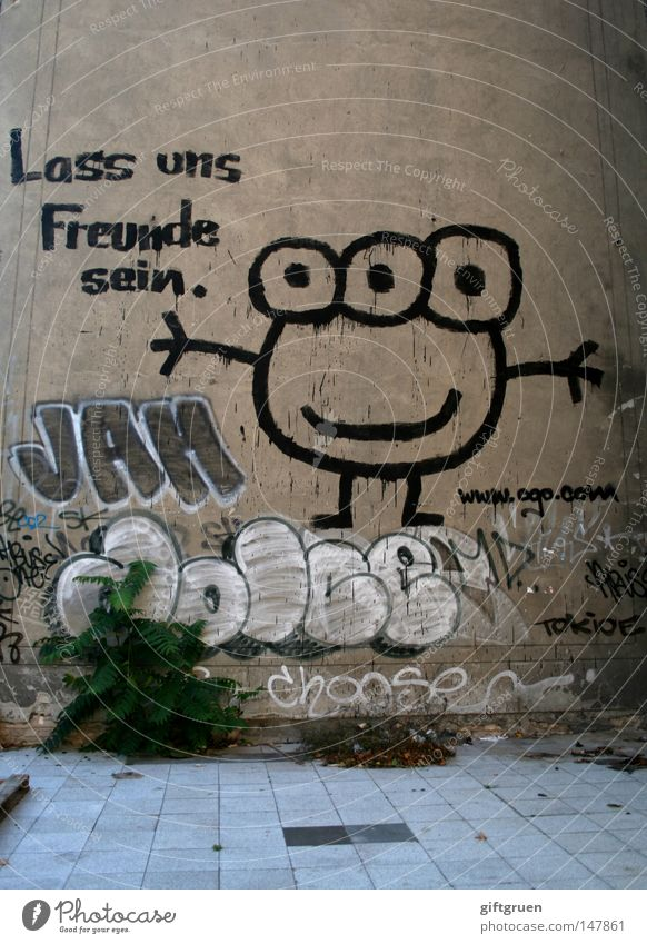 Eyes Wall (building) Emotions Graffiti Happy Wall (barrier) Friendship Contentment Together Painting and drawing (object) Attachment Relationship Drawing Monster Sympathy Like