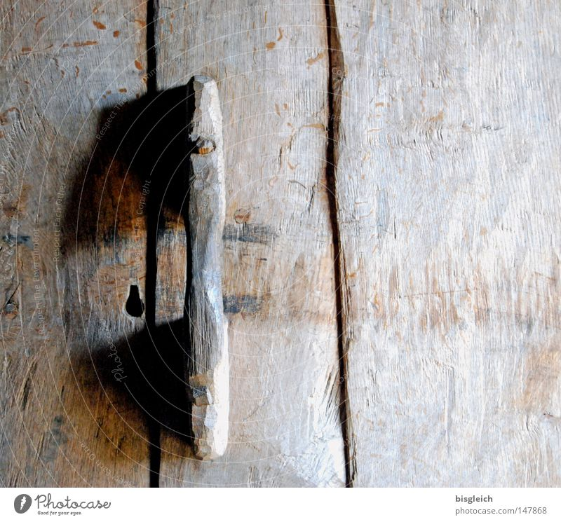 Old Wood Brown Door Closed Transience Derelict Door handle Door lock Wooden door