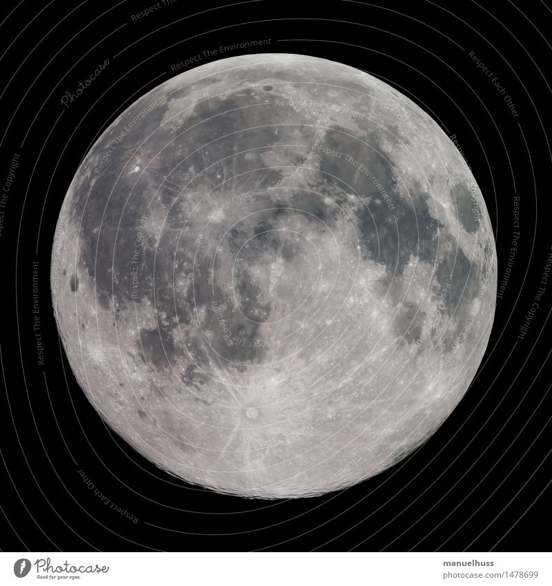 full moon Night sky Moon Full  moon Fat Gigantic Large Round Lunar landscape crater mare Minerals Surface structure Science & Research Astronomy Astronautics