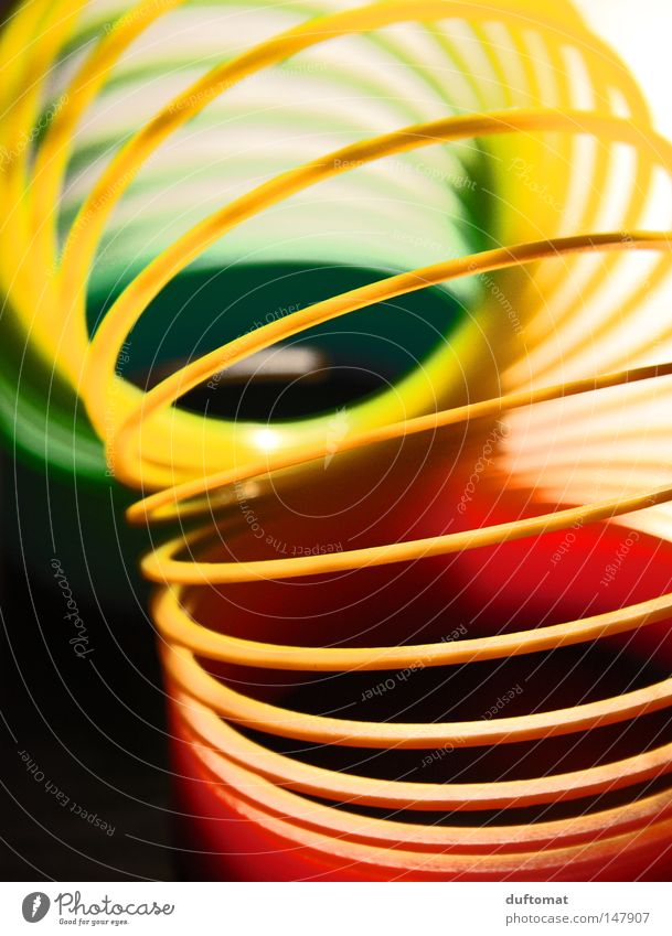 look down the tube Spiral Rotated Muddled Curved Red Green Yellow Waves Circle Vista Spectral Rainbow Colour Guide Toys Decoration Obscure accordion elongation