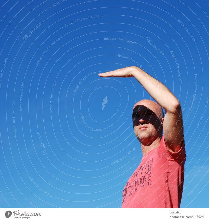 Human being Sky Man Blue Hand Clouds Black Face Autumn Dark Art Arm Fingers Posture Lips Mask