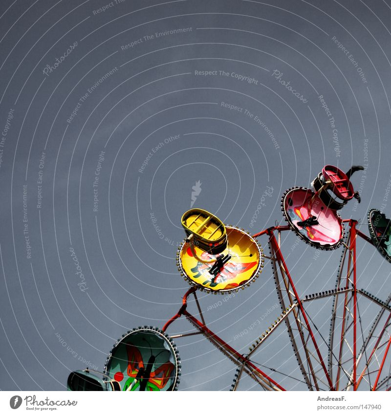 in heaven is fair II Fairs & Carnivals Sky Feasts & Celebrations Carousel Gyroscope Circle Approach a crisis Giddy Vertigo Oktoberfest Rotate Flying