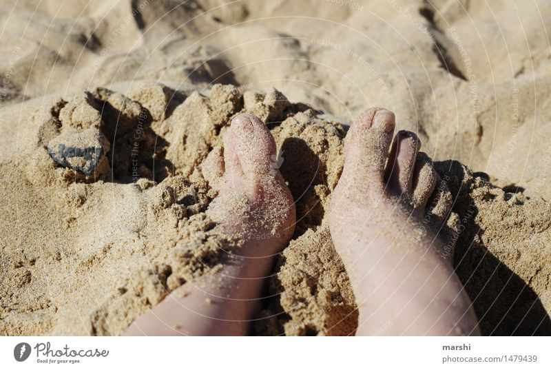 barefoot Human being Feminine Legs Feet 1 Nature Emotions Moody Joy Contentment Beach Sand Vacation & Travel Vacation photo Toes To enjoy Relaxation Ocean
