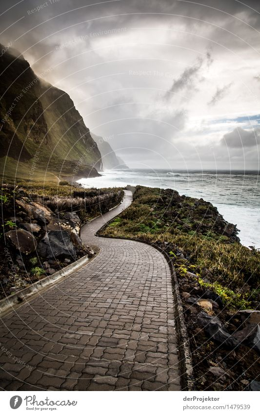 The way into the storm Vacation & Travel Tourism Trip Adventure Far-off places Freedom Expedition Ocean Waves Mountain Hiking Environment Nature Landscape