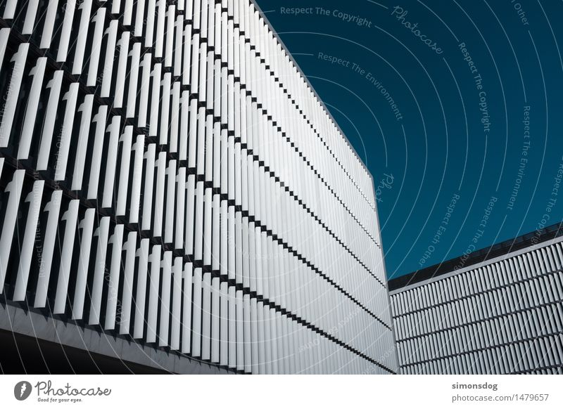 Architecture Building Facade Arrangement Esthetic Perspective Manmade structures Repeating Weather protection Slat blinds Office building Porto Cladding