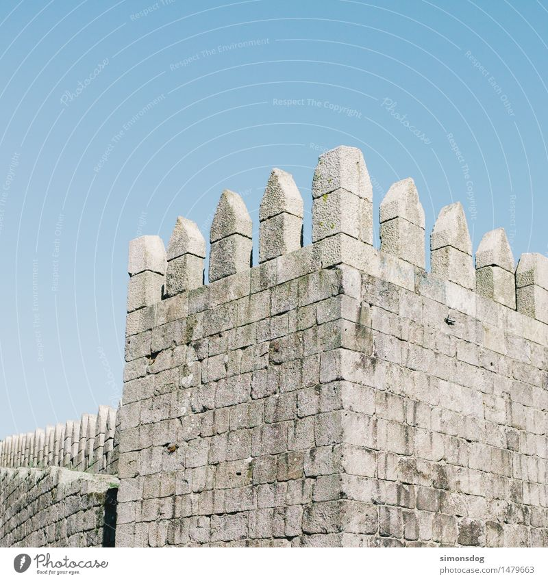 Vacation & Travel Old Wall (building) Wall (barrier) Gray Stone Facade Stairs Might Tower Manmade structures Castle Tourist Attraction Sharp-edged Minimalistic