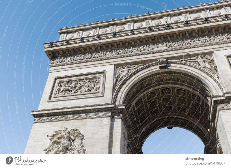 Arc de Triomphe de l'Étoile Architecture Manmade structures Wall (barrier) Wall (building) Facade Tourist Attraction Landmark Monument Culture