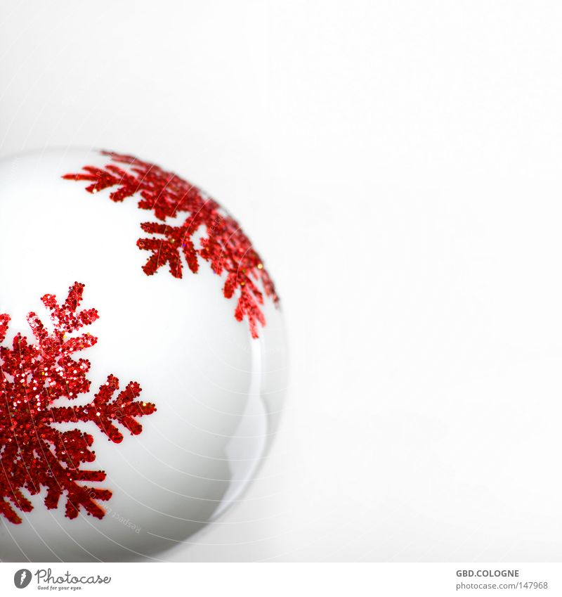 Christmas always comes so suddenly... Winter Decoration Glass Sphere Glittering Bright Kitsch Modern Round Red White Cold Glitter Ball