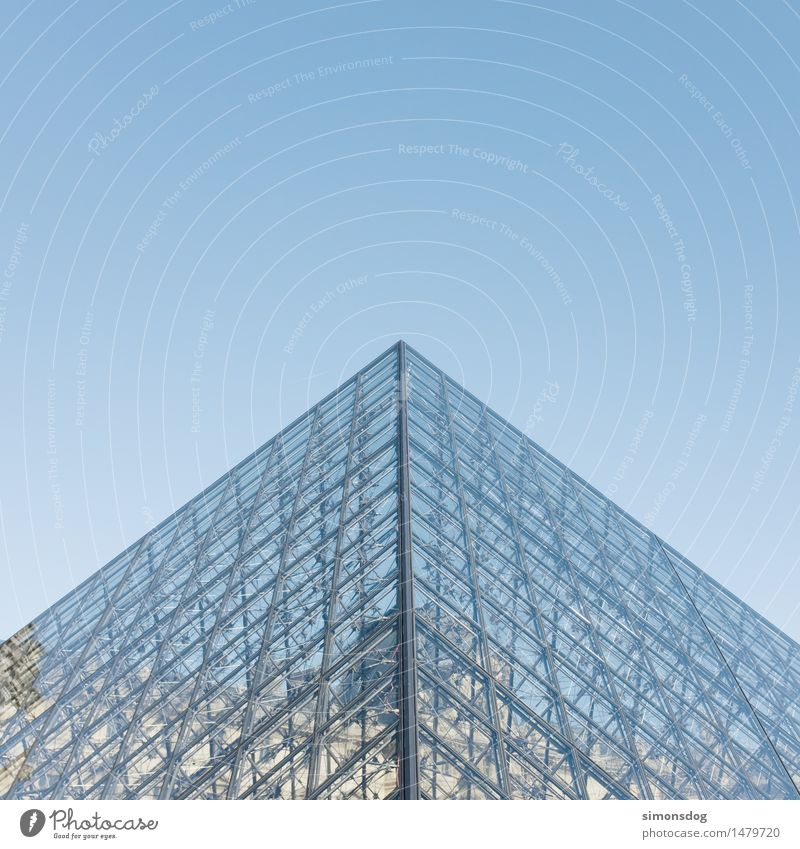 pyramid Manmade structures Building Architecture Tourist Attraction Landmark Louvre Vacation & Travel Society Tourism Art Culture Paris France Point Metalware