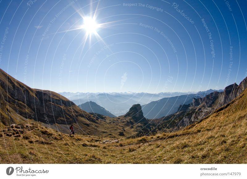 Beautiful Sky Sun Vacation & Travel Autumn Mountain Lake Hiking Large Free Rock Tall Leisure and hobbies Climbing Alps Peak