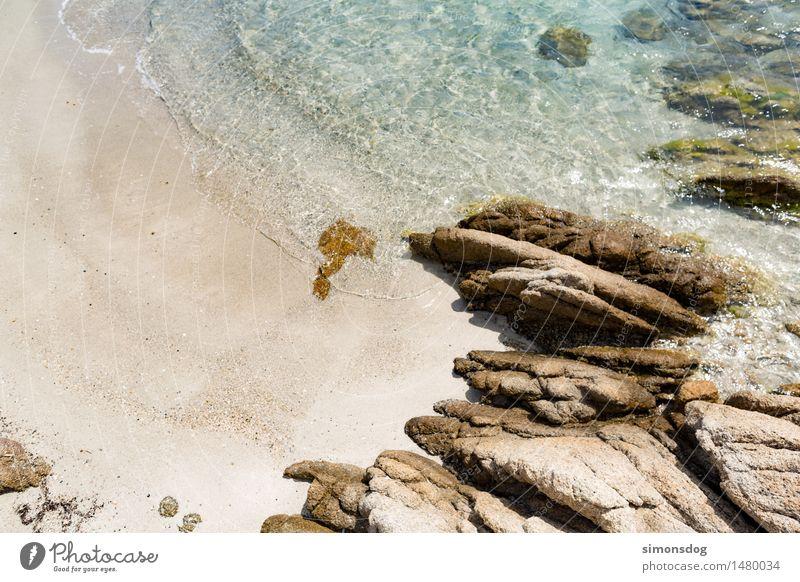 fresh Nature Landscape Sand Water Summer Beautiful weather Rock Waves Coast Beach Relaxation Idyll Pure Vacation & Travel Tourism Sandy beach Sardinia Bay