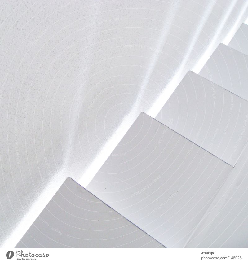 White Style Building Line Bright Architecture Design Abstract Elegant Stairs Esthetic Corner Simple Clean Exceptional Illuminate