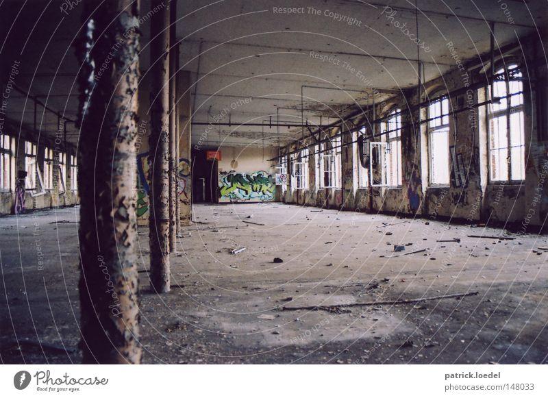 Old Loneliness Window Graffiti Concrete Industry Gloomy Broken Trash Derelict Steel Pipe Decline Rust Ruin Shabby