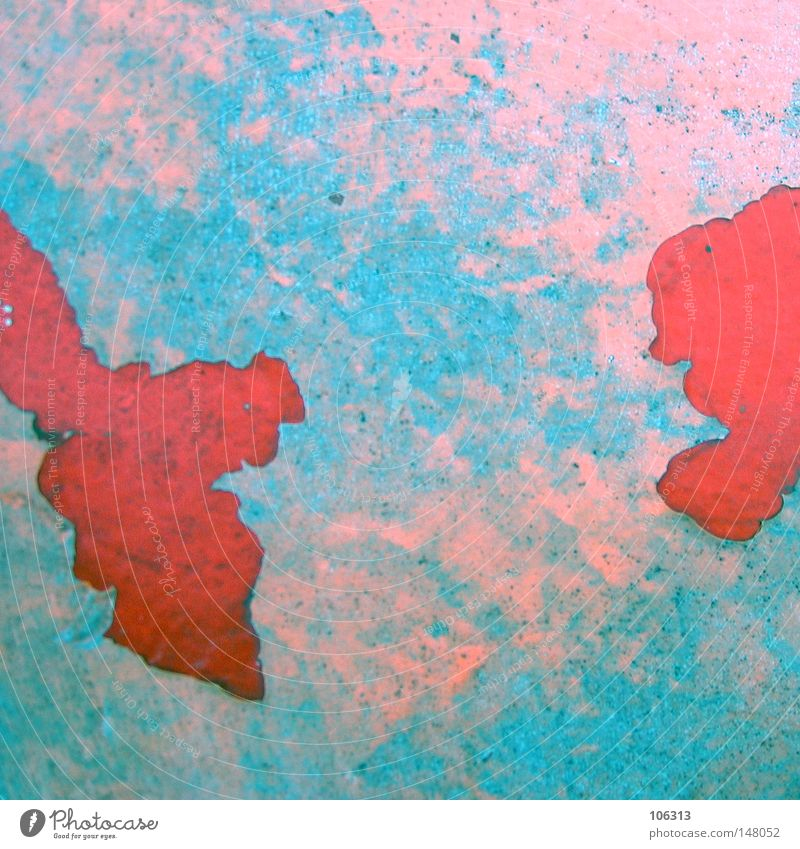 Red Against Red Graphic Map Rust Trashy Decline Derelict Apocalypse Flake off Anticorrosion paint Symbols and metaphors Allegory Globe Continents Multicoloured
