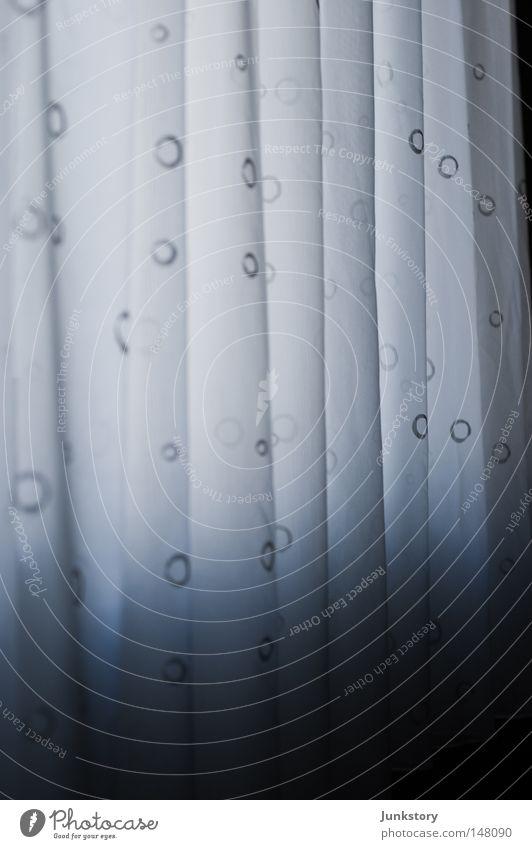 White Blue Black Autumn Window Gray Sadness Waves Clarity Transience Cloth Room Drape Transparent Curtain Textiles