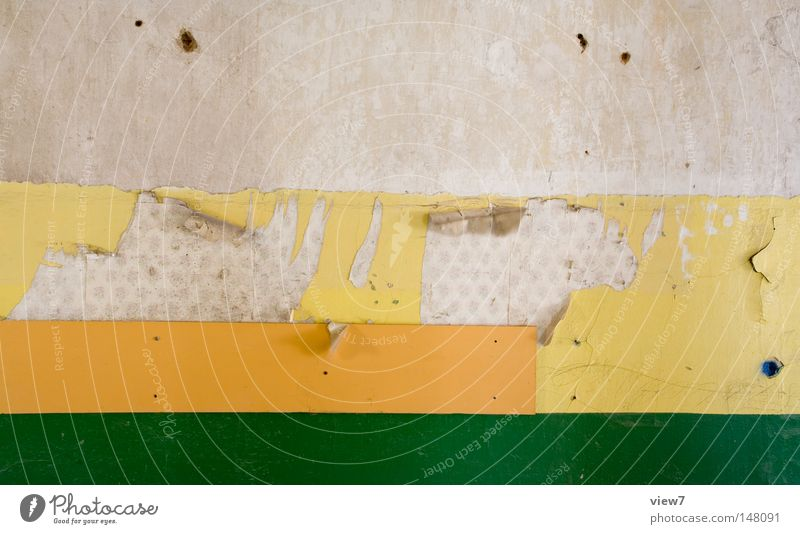 Pattern Old Green Calm Yellow Colour Wall (building) Line Orange Dirty Background picture Broken Stripe Derelict Wallpaper Hollow