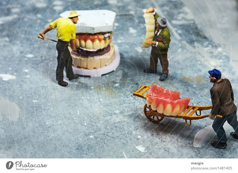 Miniwelten - Tooth restoration II Profession Doctor Workplace Construction site Health care Team Human being Masculine Man Adults 3 Pink White Logistics Dentist