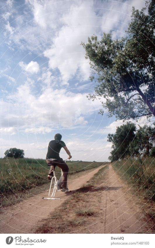 The way is the goal Lanes & trails Street Direction Cycle path Bicycle Fitness Endurance Sports Training Escape Far-off places Stagnating Stand Calm Peace