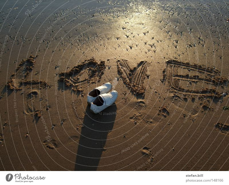 Waiting for love Vacation & Travel Beach Sand Love Footwear Concern Loneliness Sunset