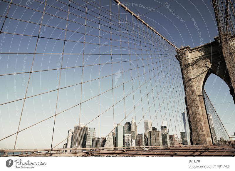 Exceptional Stone Line Bright Metal Glass High-rise Esthetic Success Perspective Beautiful weather Bridge Rope Cool (slang) Skyline Net