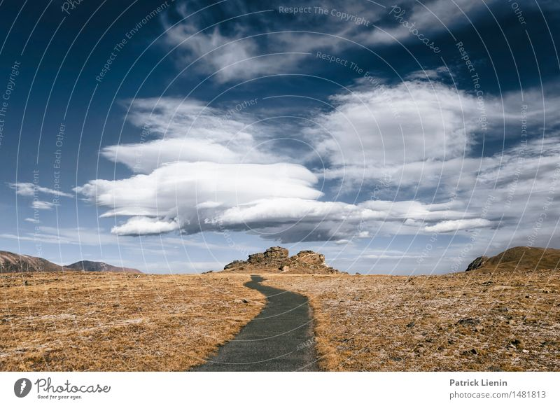 One Way Street Sky Nature Vacation & Travel Landscape Loneliness Clouds Forest Mountain Environment Autumn Lake Rock Park Weather Air Idyll