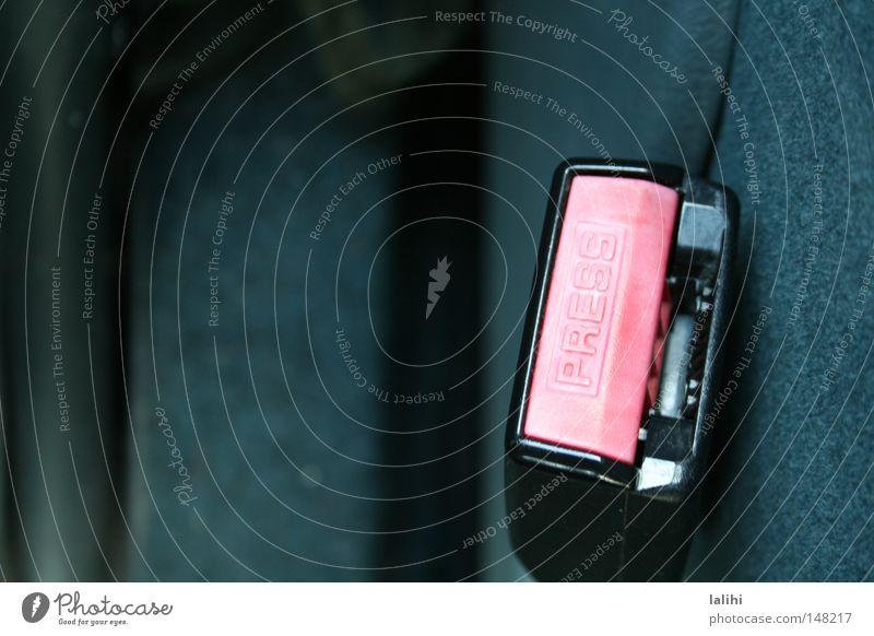 car Motor vehicle Safety Car buckle Seatbelt Road safety Detail Copy Space left Seatbelt buckle