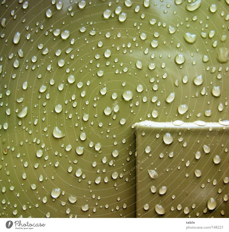 Water Green Cold Autumn Rain Metal Glittering Drops of water Wet Corner Clean Square Balcony Craft (trade) Damp