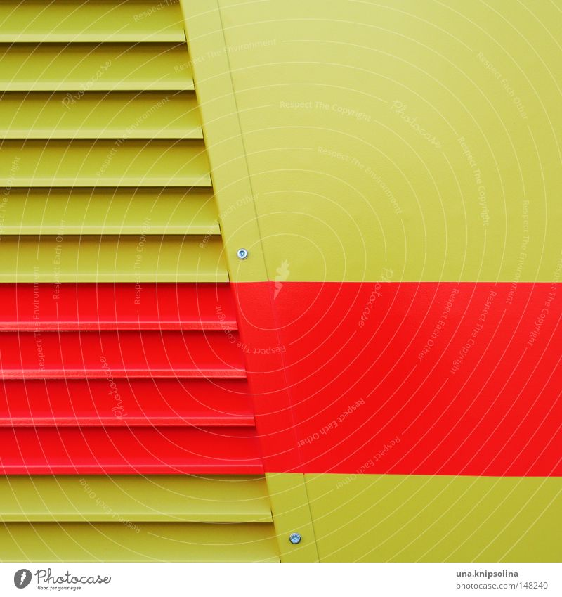 stripes Varnish Mask Metal Stripe Yellow Red Protection Striped Disk Lamella Wall (building) Metalware Tin Screw Across Illustration Graphic Detail Pattern