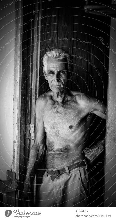 Original Cuban Farmer Human being Masculine Man Adults Male senior Father Grandfather Senior citizen Head 1 60 years and older Pants Cloth White-haired Hair