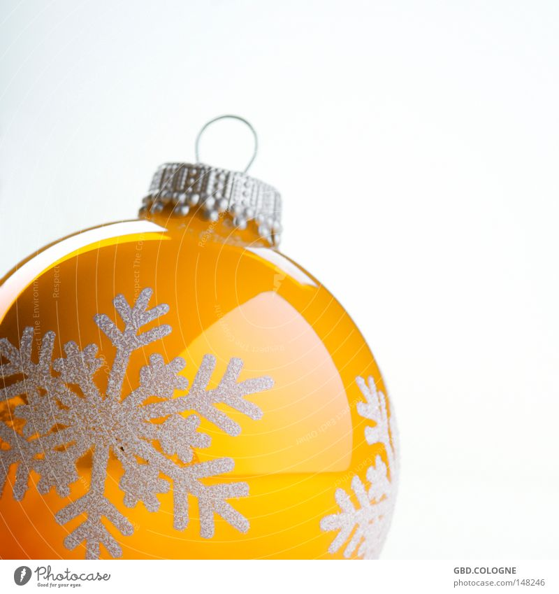 Christmas & Advent White Winter Yellow Bright Glittering Decoration Glass Round Sphere Christmas tree Square Santa Claus Public Holiday Glitter Ball