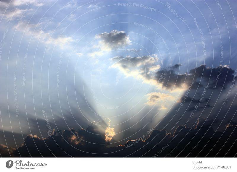 sunrays Sky Sunset Awareness Free Freedom Vacation & Travel Clouds Truth Shadow Light Blue Lighting Vantage point Idea
