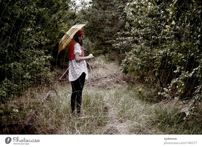 Woman Human being Nature Green Tree Beautiful Loneliness Far-off places Life Emotions Style Moody Time Esthetic Hope Clothing