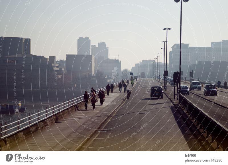 Human being City Street Lanes & trails Bridge London Themse