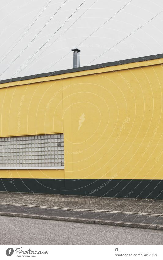 Sky House (Residential Structure) Window Yellow Street Wall (building) Architecture Building Wall (barrier) Gray Gloomy Industry Chimney Bad weather