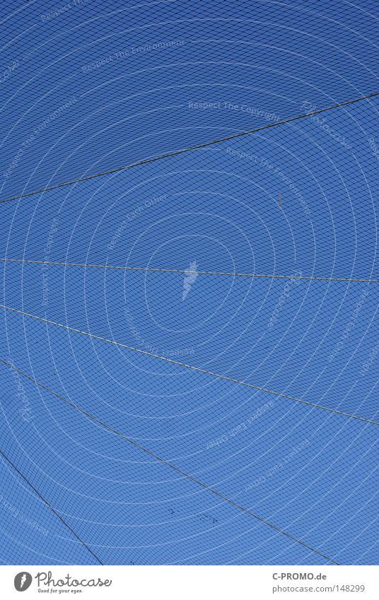 Sky Blue Line Safety Dangerous Net Diagonal Geometry Grating Bird's cage