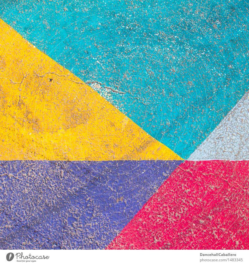 The wonderful world of geometry l 3 Lifestyle Elegant Design Transport Street Line Esthetic Dirty Sharp-edged Hip & trendy Kitsch Modern Point Blue Yellow