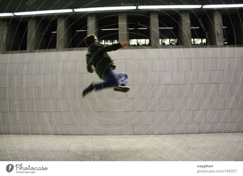 Youth (Young adults) Jump Train station Zurich Karate Combat sports Air