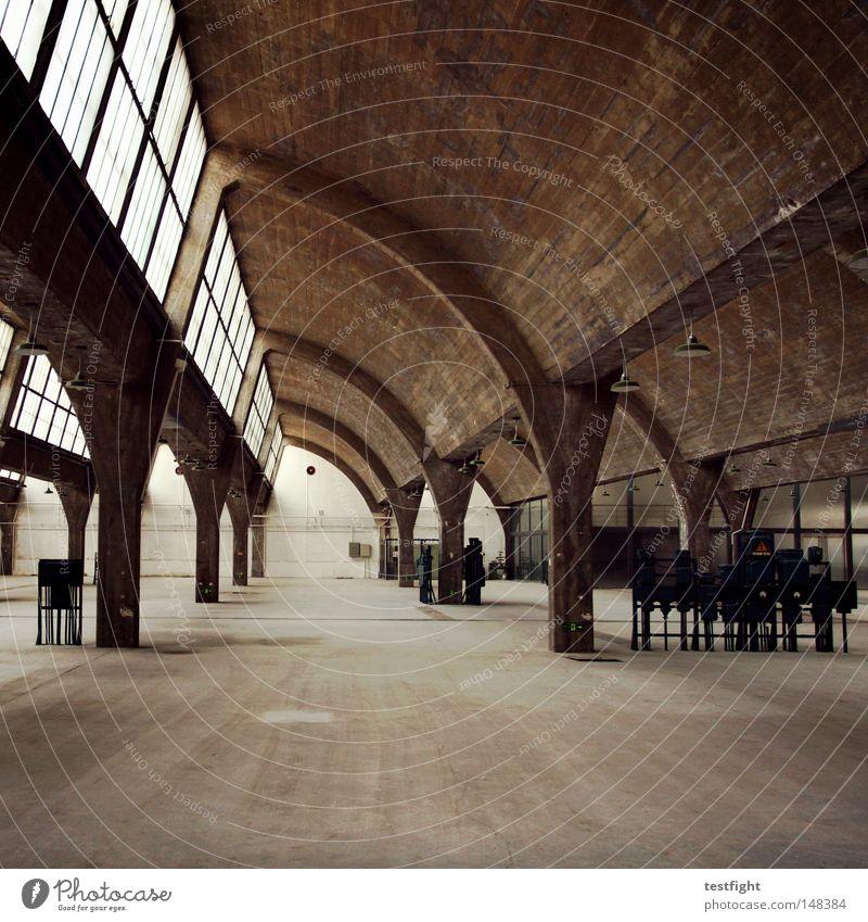 Old Building Room Architecture Concrete Empty Retro Industrial Photography Interior design Derelict Warehouse Hall Saxony-Anhalt Halle (Saale) Location