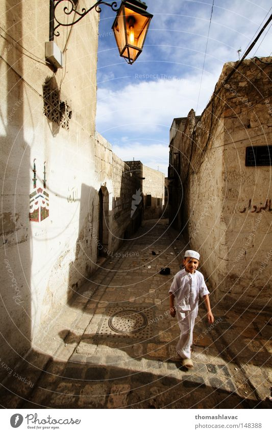 Old Aleppo Child Street Boy (child) Asia Near and Middle East Historic Tourist Syria Old town Ambience Old times Aleppo