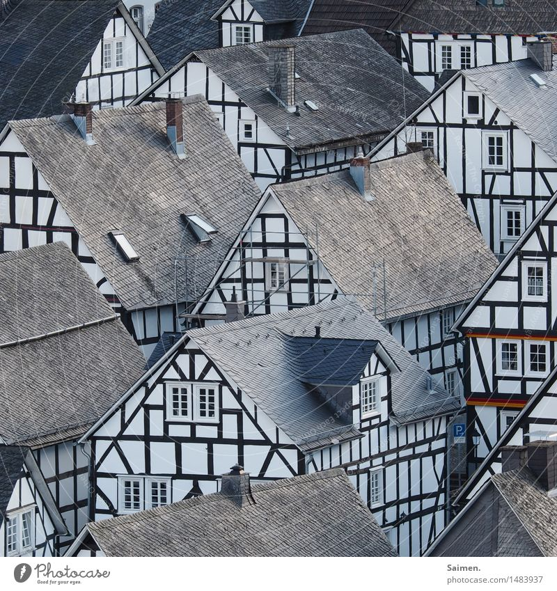 pettifogging idyll Village House (Residential Structure) Facade Tourist Attraction Landmark Idyll World heritage Half-timbered house Half-timbered facade