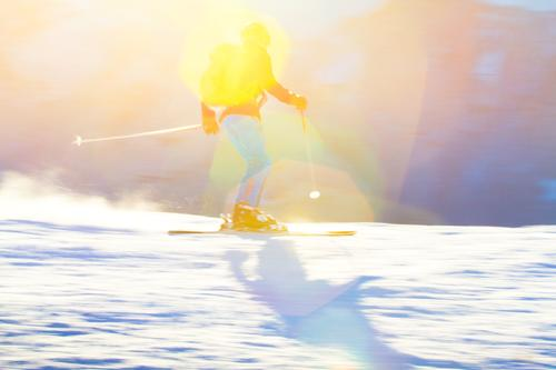 alpine skiing Lifestyle Style Vacation & Travel Tourism Winter Snow Winter vacation Winter sports Skiing Ski run Masculine Young woman Youth (Young adults) 1