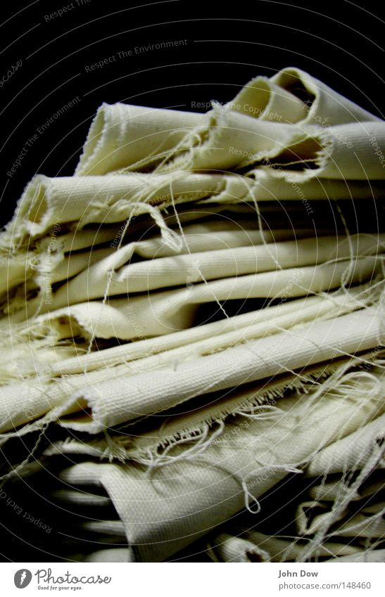 Accumulated accumulation I Black & white photo Subdued colour Close-up Macro (Extreme close-up) Structures and shapes Contrast Cloth Linen cloth Dark White