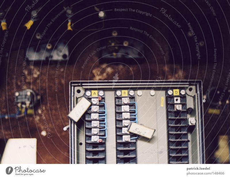Industrial Photography Cable Factory Broken Derelict Box Rust Screw Scrap metal Electrical circuit